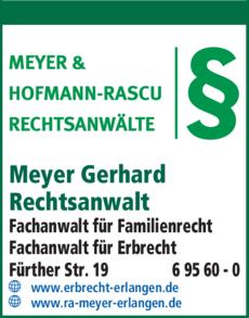 Anzeige Meyer Gerhard
