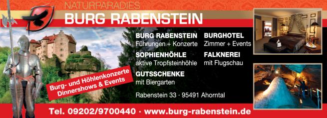 Anzeige Biergarten Burg Rabenstein