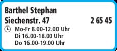 Anzeige Barthel Stephan