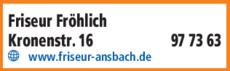 Anzeige Friseur Fröhlich