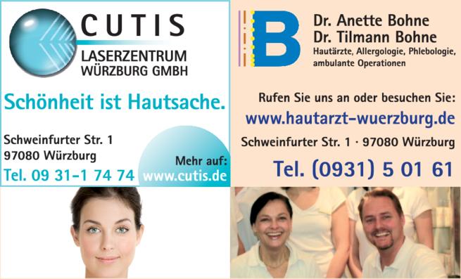 Anzeige Hautarztpraxis Bohne Anette Dr. und Bohne Tilmann Dr.