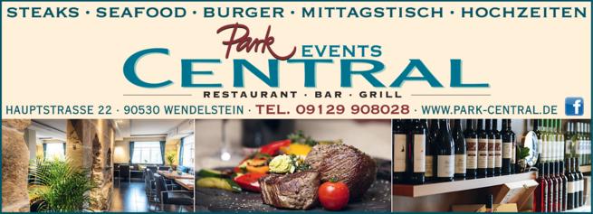 Anzeige Grillrestaurant Park Central Inh. Familie Alexandridis
