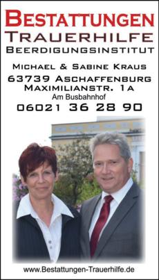 Anzeige Kraus Bestattungen Michael Kraus GmbH