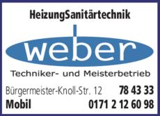 Anzeige Weber Rudolf