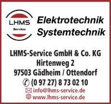Anzeige LHMS-Service GmbH & Co. KG