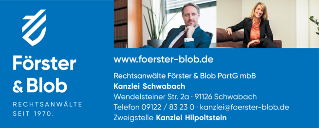 Anzeige Förster & Blob Rechtsanwälte