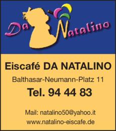 Anzeige Eiscafe DA NATALINO