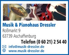Anzeige Musik & Pianohaus Dreßler
