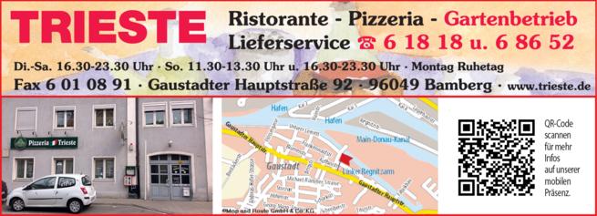 Anzeige Restaurant Pizzeria Trieste