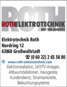 Anzeige Elektrotechnik Roth