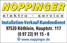 Anzeige Elektro Noppinger