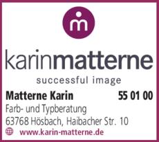 Anzeige Matterne Karin Farbberatung und Typberatung