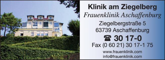 Anzeige Frauenklinik am Ziegelberg