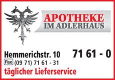 Anzeige Apotheke im Adlerhaus