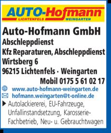 Anzeige Abschleppdienst Auto - Hofmann
