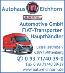 Anzeige Autohaus Eichhorn Automotive GmbH FIAT