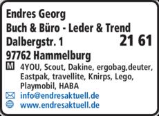 Anzeige Buch & Büro, Leder & Trend Endres Georg