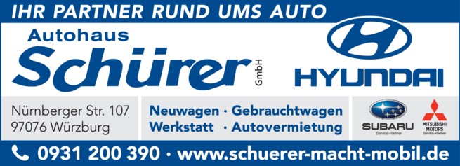 Anzeige Auto Schürer GmbH