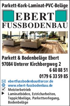 Anzeige Parkett & Bodenbeläge Ebert