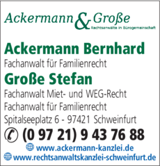 Anzeige Ackermann Bernhard Rechtsanwalt