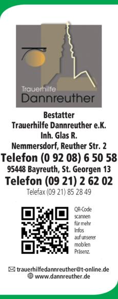 Anzeige Bestatter Trauerhilfe Dannreuther e.K.
