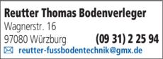 Anzeige Reutter Thomas Bodenverleger