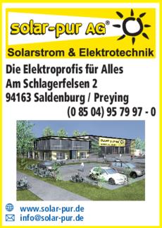 Anzeige Elektrotechnik solar-pur AG