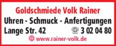 Anzeige Goldschmiede Volk Rainer