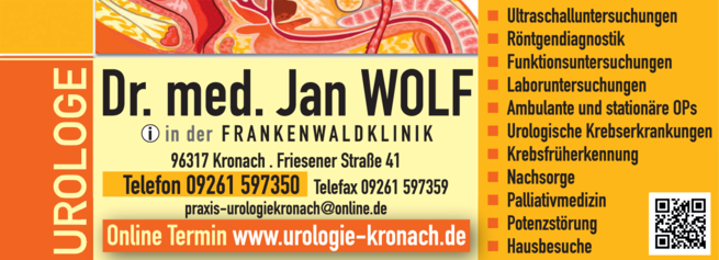 Anzeige Prostatakrebs Wolf