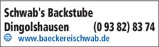 Anzeige Schwab's Backstube