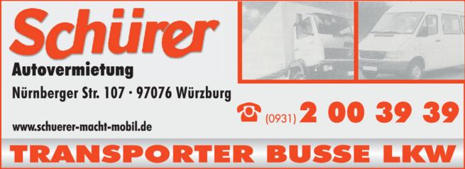 Anzeige Busse Schürer