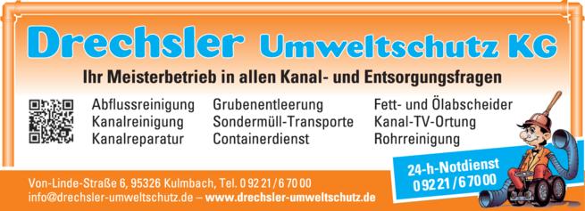 Anzeige Kanalsanierung Drechsler Umweltschutz KG
