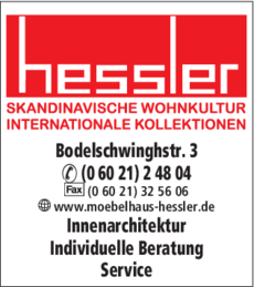 Anzeige Möbel Hessler Eberhard