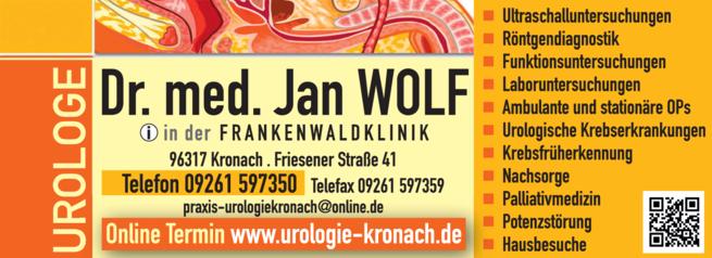 Anzeige Wolf Jan Dr.med.