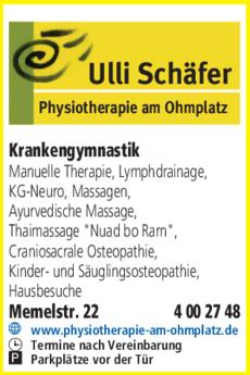 Anzeige Krankengymnastik Schäfer Ulli