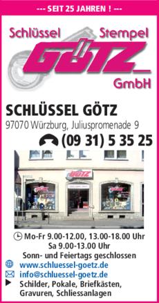 2528652fc83ae7 Schlüssel Götz GmbH in Würzburg ⇒ in Das Örtliche