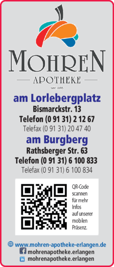 Anzeige Mohren-Apotheken