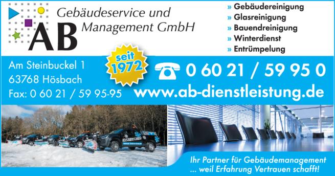 Anzeige AB Gebäudeservice und Management