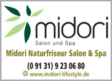 Anzeige Friseur midori Salon & Spa