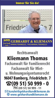 Anzeige Rechtsanwalt Kliemann Thomas