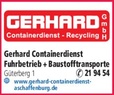 Anzeige GERHARD Containerdienst