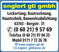 Anzeige ENGLERT GTI GMBH