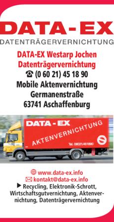Anzeige Westarp Jochen DATA-EX Datenträgervernichtung