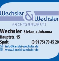 Anzeige Wechsler & Wechsler