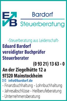 Anzeige Steuerberater Bardorf Eduard