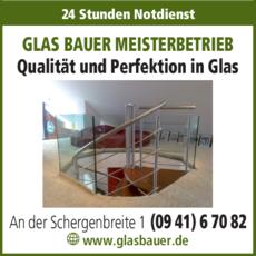 Anzeige GLAS BAUER MEISTERBETRIEB