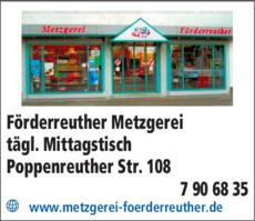 Anzeige Förderreuther Metzgerei
