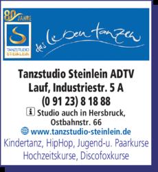 Anzeige Tanzstudio Steinlein ADTV