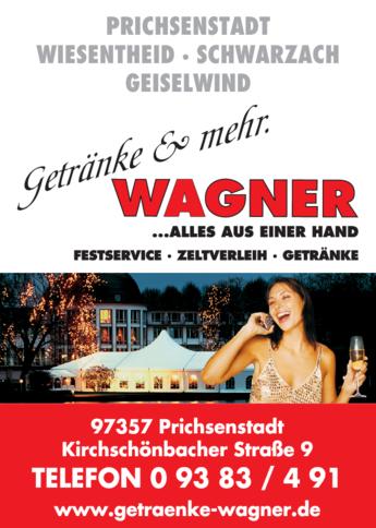 Anzeige Getränke Wagner