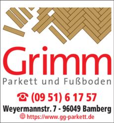 Anzeige Grimm Parkett und Fußboden GmbH & Co.KG